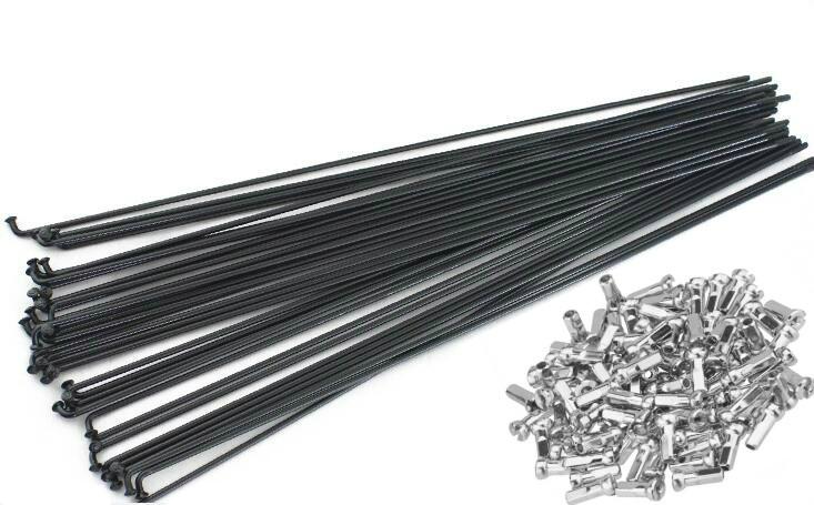 Спицы велосипедные SLE BLK-258 черная, толщина 2 мм.