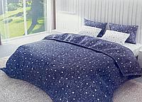 Комплект постельного белья двуспальное евро 200*220 простынь на резинке (13823) бязь Ранфорс
