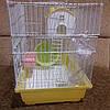 Клетка для грызунов з домиком и балконом.