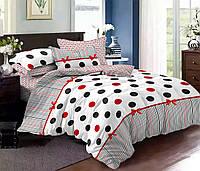 Комплект постельного белья двуспальное евро 200*220 простынь на резинке (13825) бязь Ранфорс