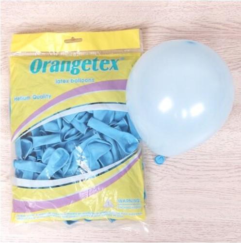 """Воздушные шары пастель макарун голубой 5"""" (Китай), 100 штук"""