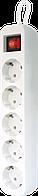 Мережевий подовжувач з заземленням Defender S518, 1.8 м, 5 розеток