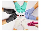 Рукавички IGAR нітрилові рожевого кольору оглядові нестерильні неопудреные (200 шт/уп), фото 2