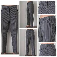 Ультрамодные брюки в полосатый принт позволят выглядеть стильно без ущерба комфор, р.46 к.3141М