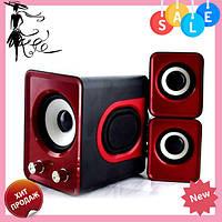 Компьютерные колонки акустика IS 12 220v Красные | акустические мощные колонки | музыкальная колонка! Топ
