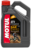 Моторное масло для квадроцикла синтетика MOTUL ATV POWER 4T 5W40 (4L)