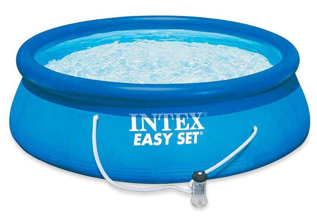 Intex 28112 бассейн наливной 244 х 76 с фильтр насосом