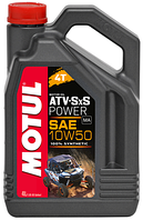 Моторное масло для квадроцикла синтетика MOTUL ATV-SxS Power 4T 10W50 (4L)