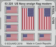 Фототравление цветное американские флаги USN современного периода. 1/700 EDUARD 53225