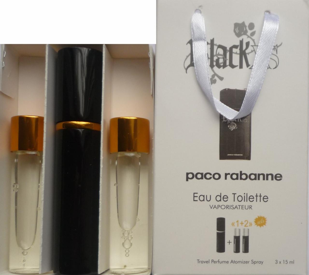 Духи мужские 3в1 Paco Rabanne Black XS копия (Пако Рабан Блек Икс Эс)