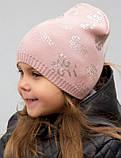Красивая весенняя шапка для девочки Love, фото 4