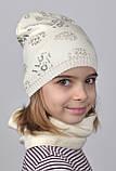 Красивая весенняя шапка для девочки Love, фото 6