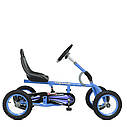 Детский педальный карт надувные колеса Bambi M 1697-12 синий, фото 3