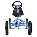 Детский педальный карт надувные колеса Bambi M 1697-12 синий, фото 4