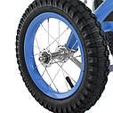 Детский педальный карт надувные колеса Bambi M 1697-12 синий, фото 7