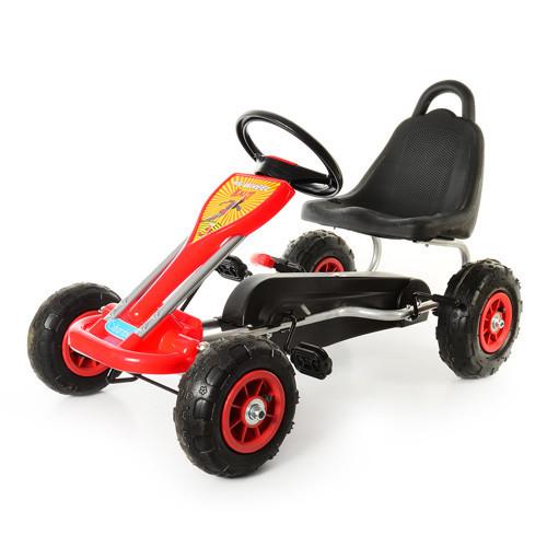 Детский педальный карт надувные колеса Bambi M 1564-3 красный
