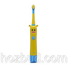 Детская звуковая электрическая зубная щетка Funny Tooth, аккумуляторная