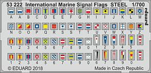 Международные морские сигнальные флаги. Цветное фототравление в масштабе 1/700. EDUARD 53222