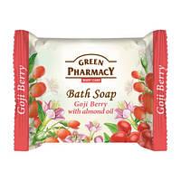 Туалетное мыло. Green Pharmacy. Годжи с миндальным маслом 100 г