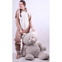 Коричневый кигуруми заяц для девочки подростка 126-155 см