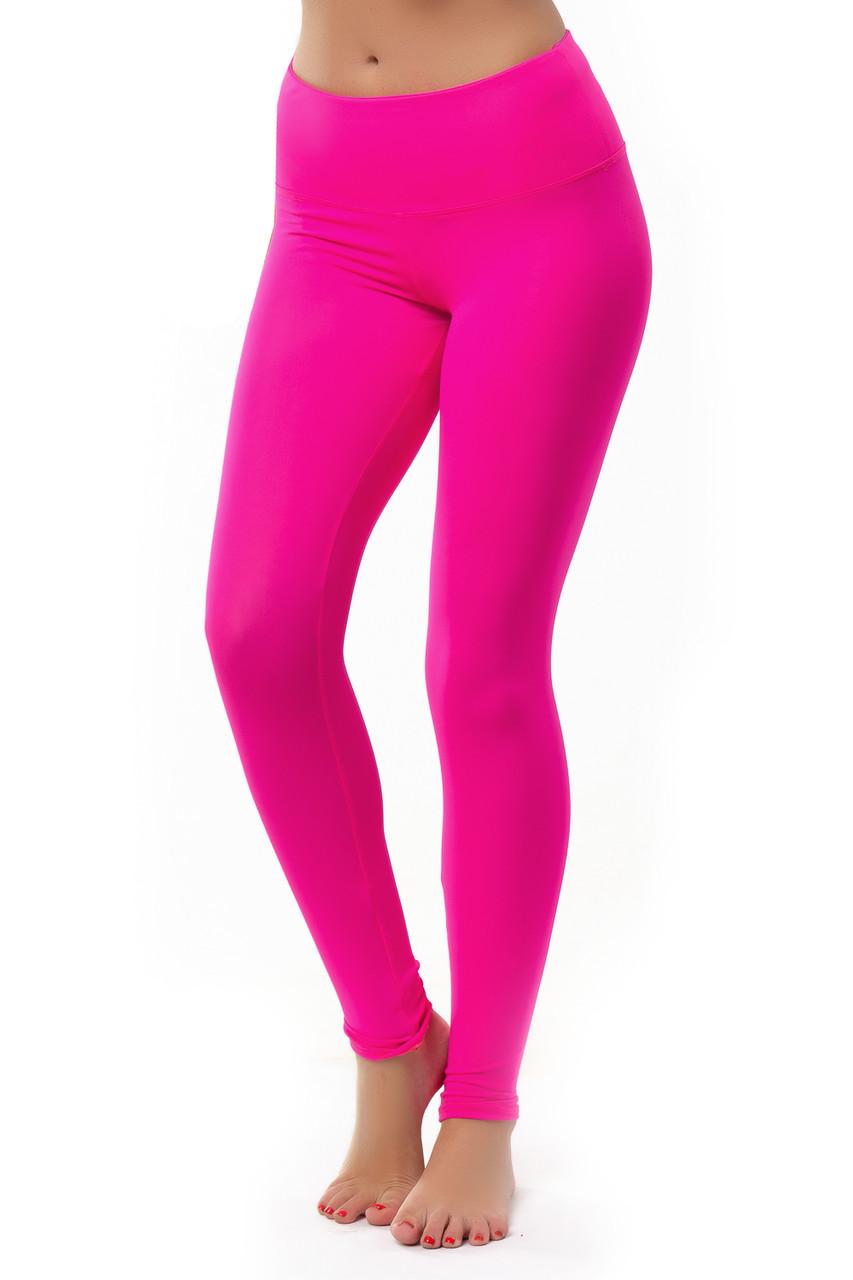 Розовые леггинсы для фитнеса