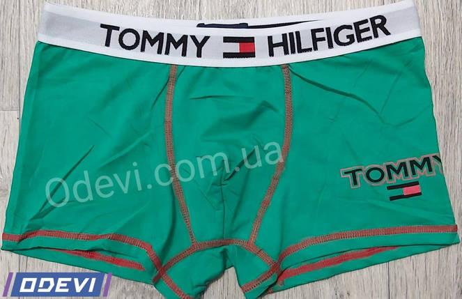 Трусы боксеры копия Tommy хлопок в зеленом цвете, фото 2