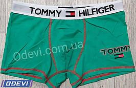Труси-боксери копія Tommy бавовна в зеленому кольорі