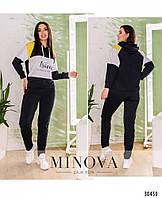 Модный удобный женский спортивный костюм в расцветках , размеры 50, 52, 54, 56, 58, 60, 62
