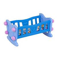 Кроватка для куклы ТехноК голубая R180454
