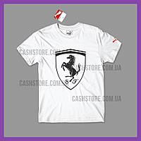 Футболка Puma 'Ferrari Big Shield' с биркой   Пума   Белая