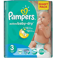 Подгузники Pampers Active Baby 3 midi 4-9 кг (90 шт)