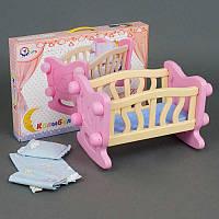Кроватка для куклы Технок, бежевая R180453