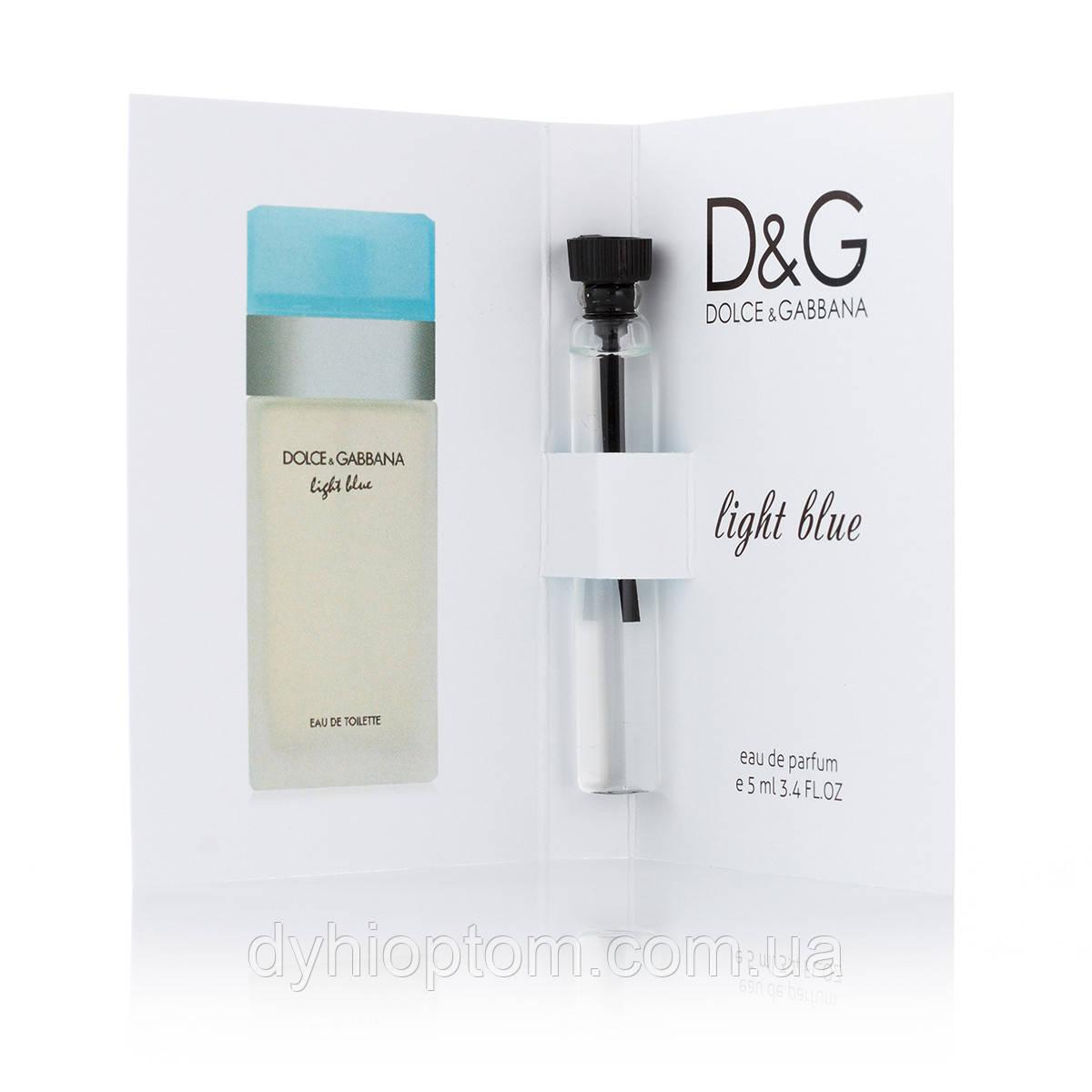 Пробник парфюмированный 5 мл Dolce & Gabbana Light Blue для женщин