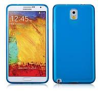 Силиконовый чехол для телефона Momax Protection TPU cover case for Samsung N9000 Galaxy Note 3, blue (CCSANOTE3B)