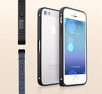 Чехол-бампер для телефона Metal aluminum alloy Bumper for iPhone 5/5S, black (Bumperi5/5s-BK) Yoobao