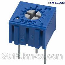 Резистор подстроечный (Trimmer) 3362P-1-100LF (Bourns)