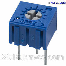 Резистор подстроечный (Trimmer) 3362P-1-102 (Bourns)