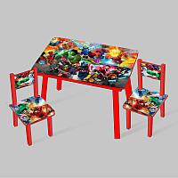 Столик Мини Супергерой 60х46 см и 2 стула - 181713