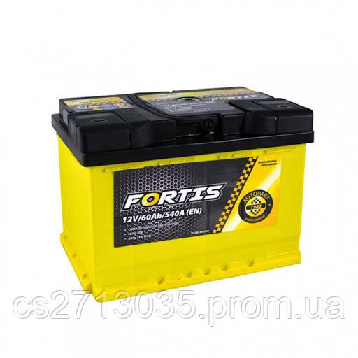 Автомобильный аккумулятор FORTIS 60 Ач 540 А (0) R+
