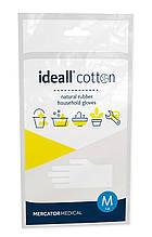 Перчатки IDEALL Cotton резиновые флокированные (хлопковое напыление) по внутренней стороне ладони