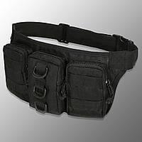 "🔥 Поясная сумка для боеприпасов ""Esdy - Y120"" (черная) тактическая поясная сумка, edc, бананка, сумка на пояс"