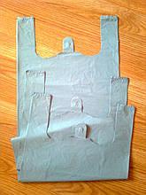 Пакети майка 31*45 см/30 мкм, сірі поліетиленові пакети без печатки купити без логотипу Києва від виробника