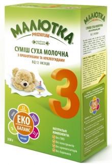 """Молочна суха суміш """"Малютка-Premium-3"""" з 12 місяців (350гр.)"""