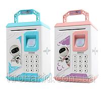 Электронная Копилка / Детский сейф с отпечатком пальца и кодовым замком «Электронный сейф» 906