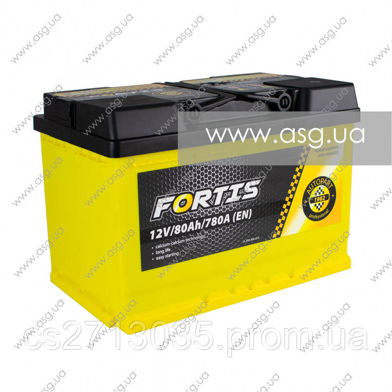 Автомобильный аккумулятор FORTIS 80 Ач 780 А (0) R+