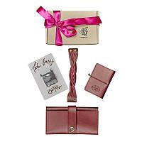 Женский подарочный набор кожаных аксессуаров Blanknote Париж