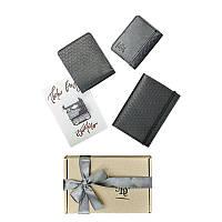 Мужской подарочный набор кожаных аксессуаров Blanknote Милан