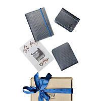 Мужской подарочный набор кожаных аксессуаров Blanknote Ливерпуль