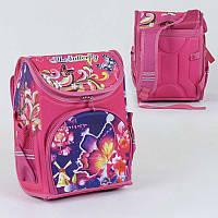Рюкзак школьный каркасный с 1 отделением и 3 карманами, спинка ортопедическая, 3D принт - 186121