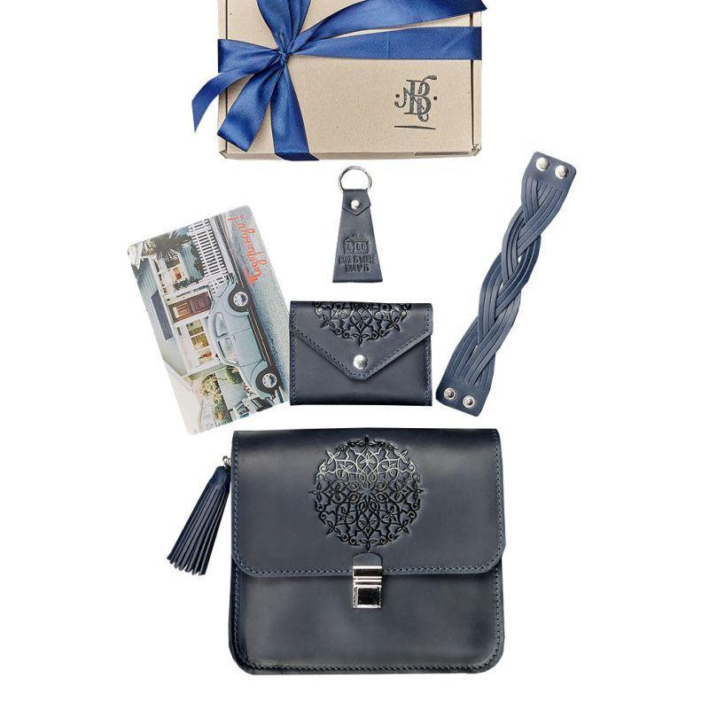 Женский подарочный набор кожаных аксессуаров Blanknote Лондон